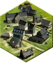 village médiéval 3D iso Ville11