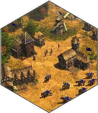 village médiéval 3D iso Villag10