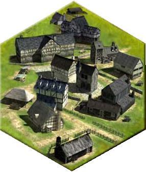 village médiéval 3D iso Ville10
