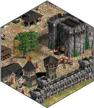 village médiéval 3D iso Ville_10