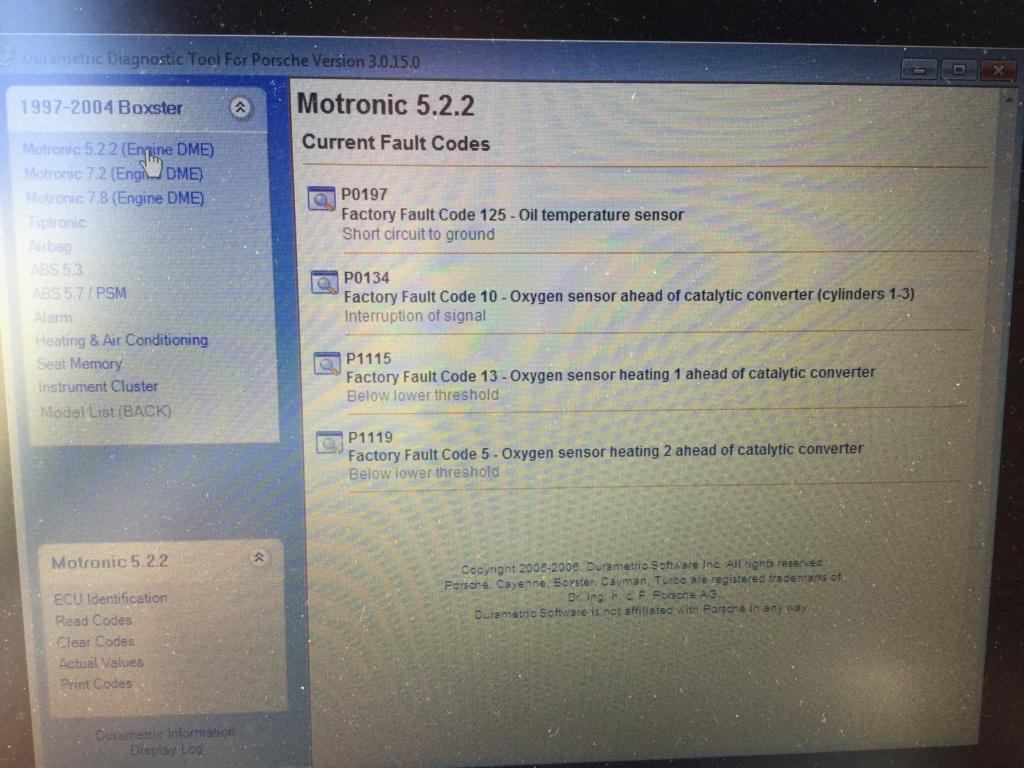 Codes erreur Durametric  2c10d110