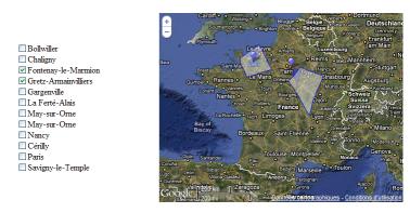 Carte des stations de détection françaises. Carte_10