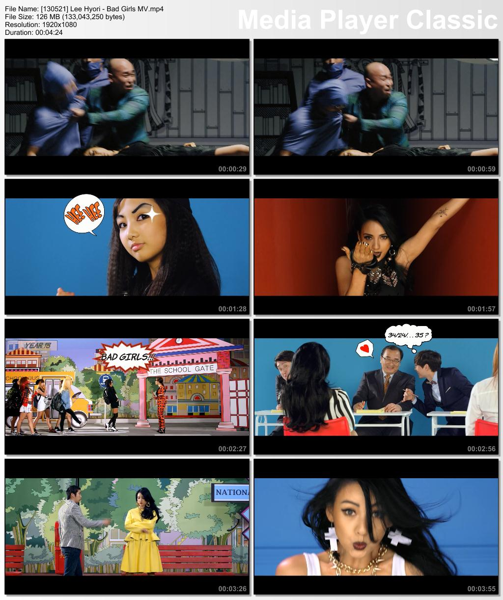 [130521] Hyori - Bad Girls MV 13052110