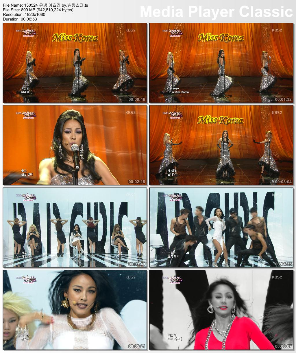 [130524] Hyori - Miss Korea & Bad Girls @ KBS Music Bank 13052410