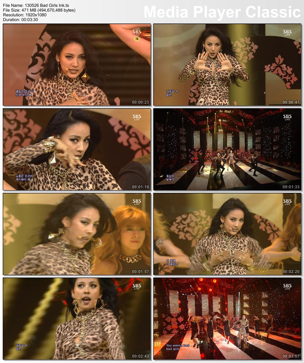 [130526] Hyori - Bad Girls, Interview, Full Moon & Ending @ SBS Inkigayo 13052610