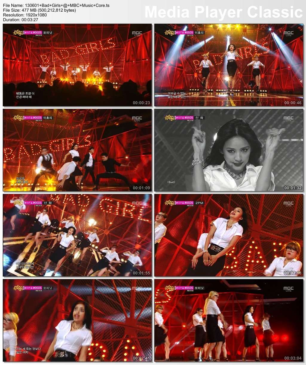 [130601] Hyori - Interview, Bad Girls, Ending @ MBC Music Core 13060112