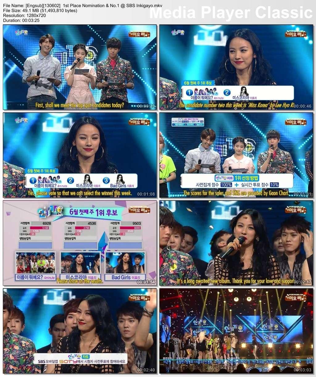 [Engsub][130602] 1st Place Nomination & No.1 @ SBS Inkigayo Engsub16