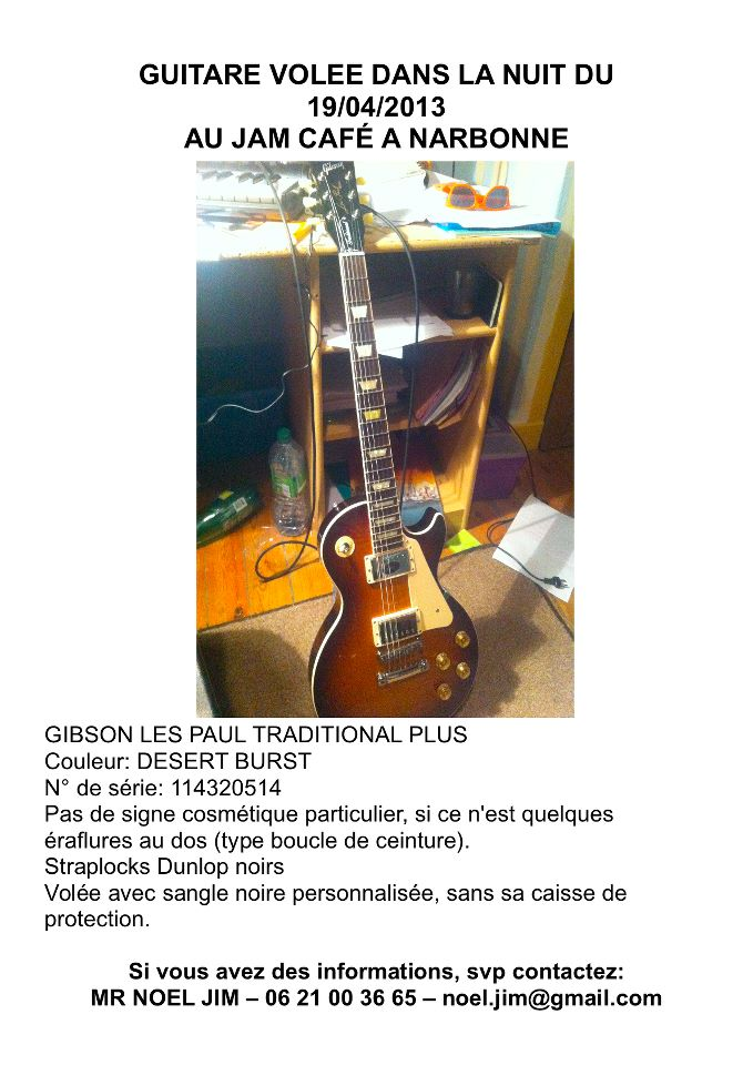 GIBSON LES PAUL VOLEE A NARBONE 61986_10