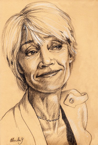 Portraits au crayon de Françoise Hardy Alice-10