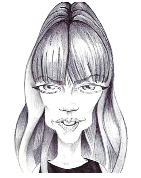 Caricatures de Françoise Hardy Franca11