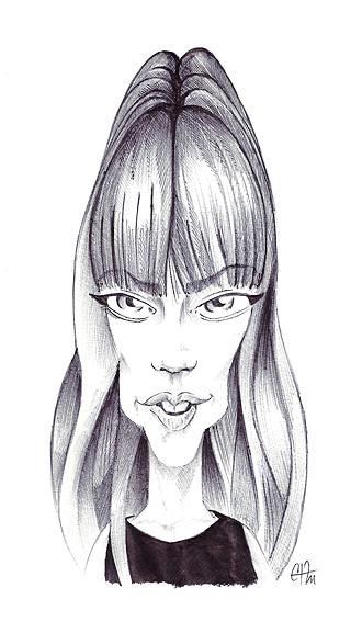 Caricatures de Françoise Hardy Franci11
