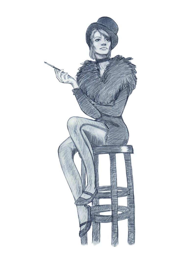Portraits au crayon de Françoise Hardy Franco14