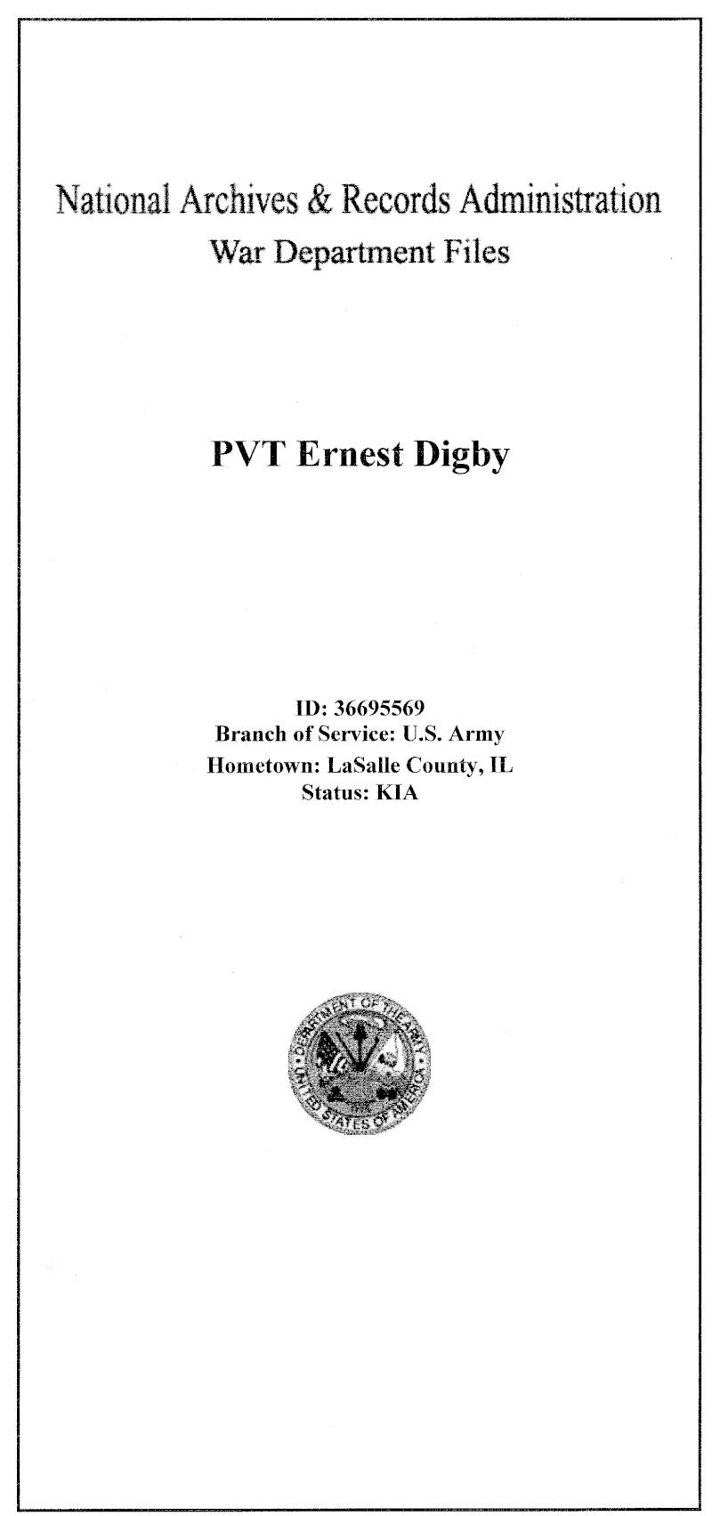 Ernest DIGBY  331e régimentd'infanterie 83e division  Numari11