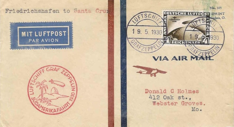 Südamerikafahrt 1930, Post nach (Salvador de) Bahia 57_d10