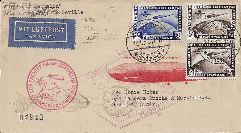 Südamerikafahrt 1930, Post nach Sevilla 57_o_110