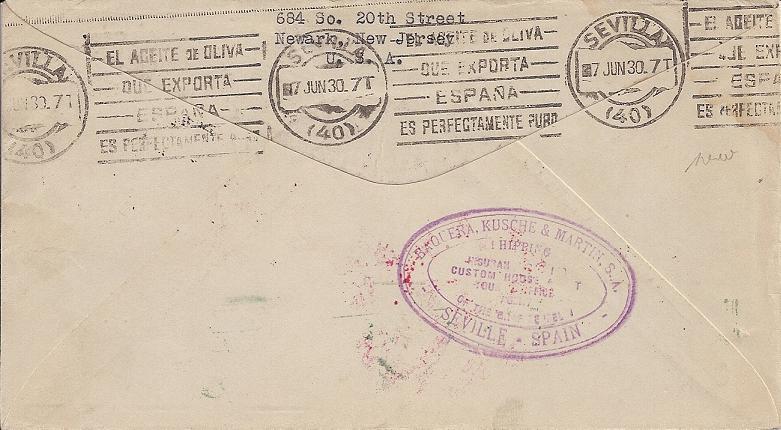 Südamerikafahrt 1930, Post nach Sevilla 57_o_111