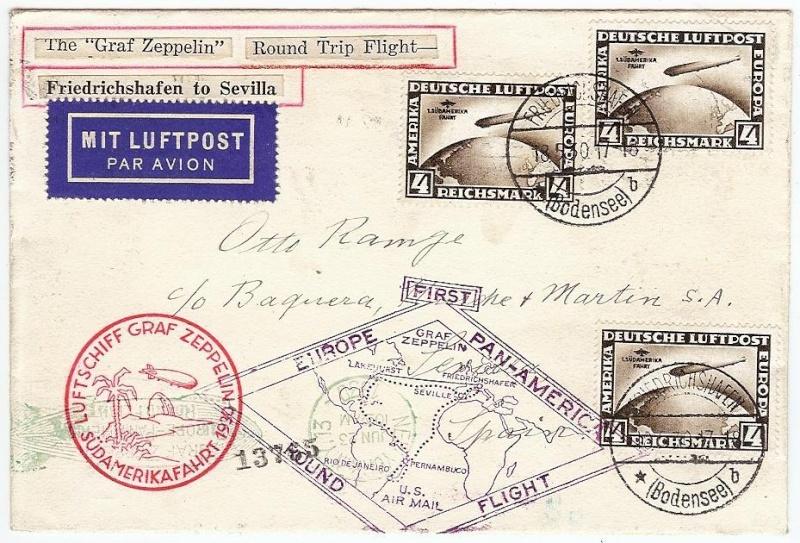 Südamerikafahrt 1930, Post nach Sevilla 57_o_112