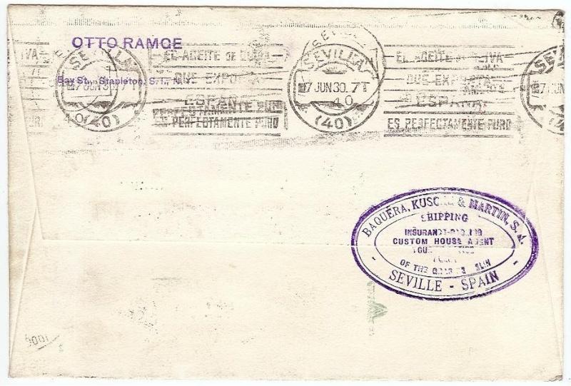 Südamerikafahrt 1930, Post nach Sevilla 57_o_113