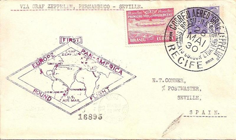 Südamerikafahrt 1930, Post nach Sevilla 59_b_n10