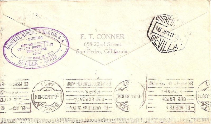 Südamerikafahrt 1930, Post nach Sevilla 59_b_n11
