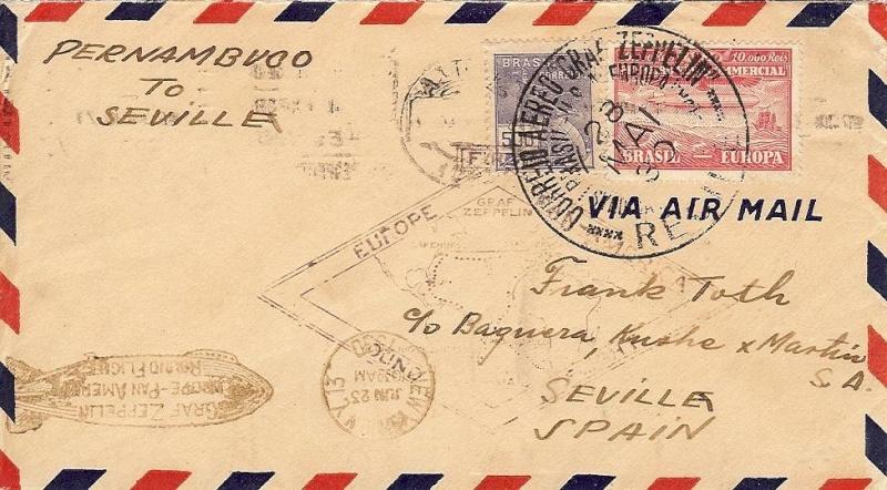 Südamerikafahrt 1930, Post nach Sevilla 59_b_r10