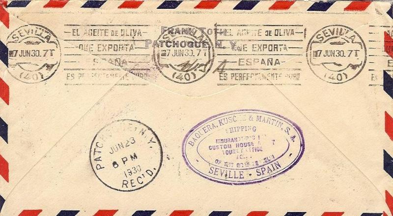 Südamerikafahrt 1930, Post nach Sevilla 59_b_r11