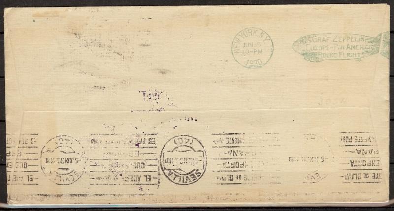 Südamerikafahrt 1930, Post nach Sevilla 59_c_r12