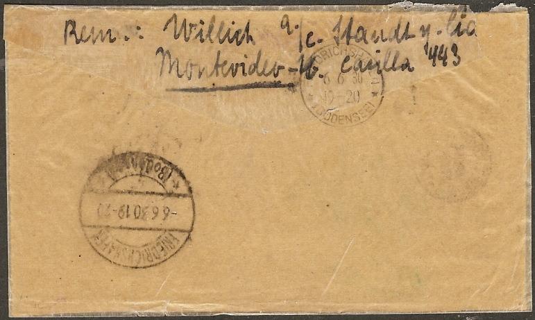 """Südamerikafahrt 1930 (Rundfahrt-) Post nach Friedrichshafen"""" - Seite 4 61b_ef11"""