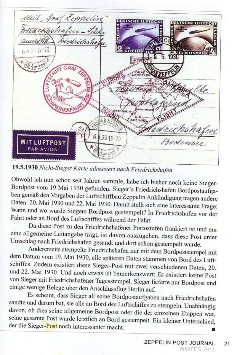 """Südamerikafahrt 1930 (Rundfahrt-) Post nach Friedrichshafen"""" - Seite 4 Scanne19"""
