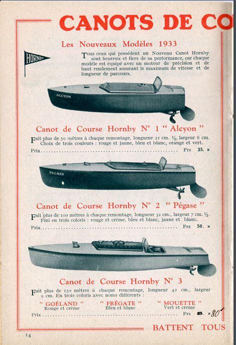 HORNBY canot de course Cata3310