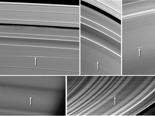 Cassini Observes Meteors Colliding with Saturn's Rings Img00410