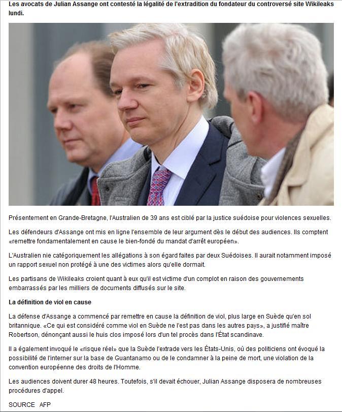 Assange débute son procés Assang10