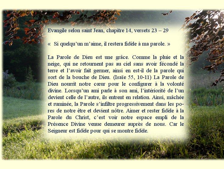 """6ème dimanche de Pâques """"La promesse de la venue de l'Esprit""""  Dimanc15"""