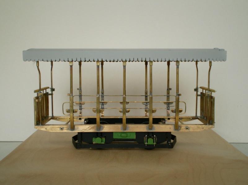 Straßenbahntriebwagen mit Sommerwagen entsteht Maßstab 1:24 Bild2015