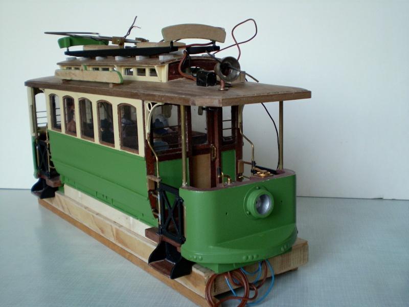Straßenbahntriebwagen mit Sommerwagen entsteht Maßstab 1:24 Bild2016