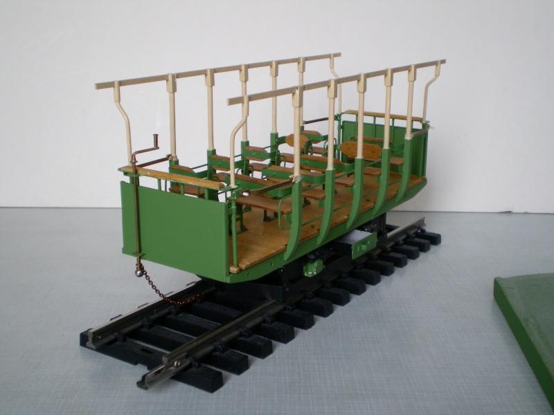 Straßenbahntriebwagen mit Sommerwagen entsteht Maßstab 1:24 Bild2017