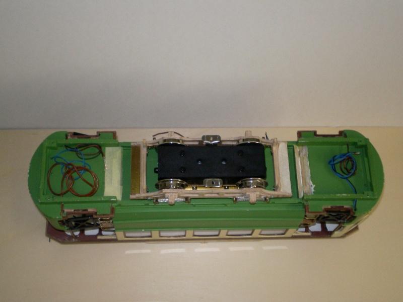 Straßenbahntriebwagen mit Sommerwagen entsteht Maßstab 1:24 Bild2022