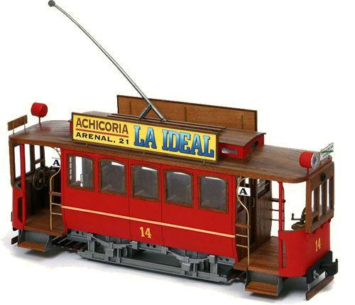Straßenbahntriebwagen mit Sommerwagen entsteht Maßstab 1:24 Occre-12