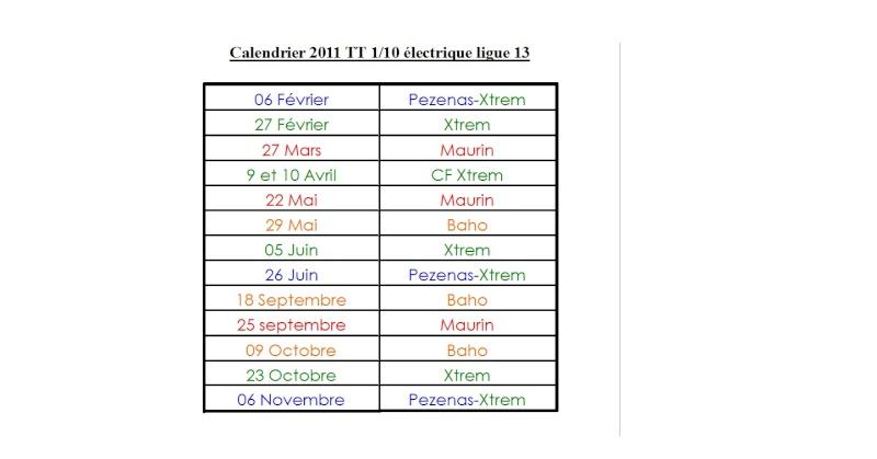 Calendrier 2011 TT 1/10 électrique ligue 13 Calend10