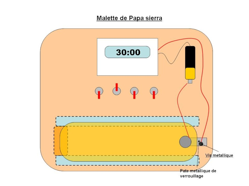 Bombe à minuteur et code de désamorçage Malett10