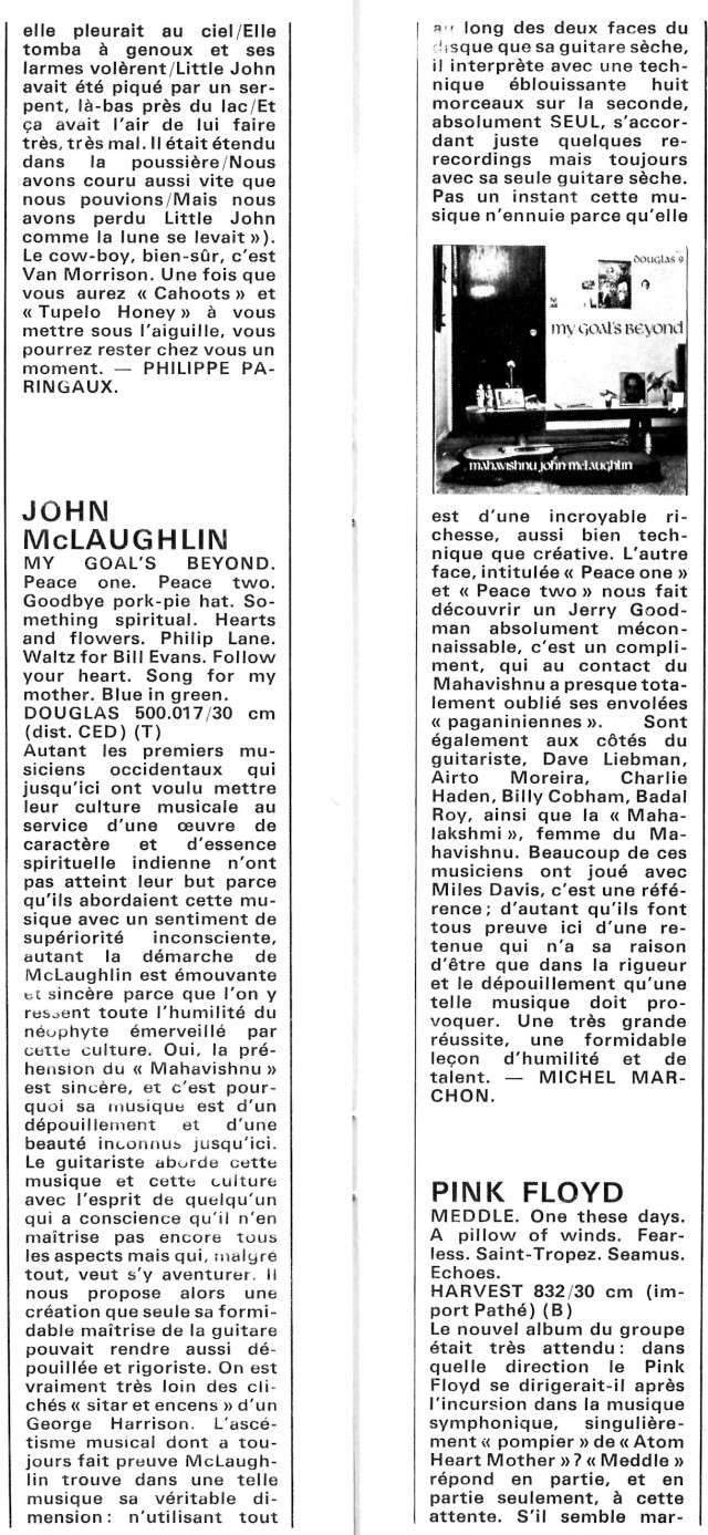 Mahavishnu John McLaughlin : My Goal's Beyond (1971) R59-3320