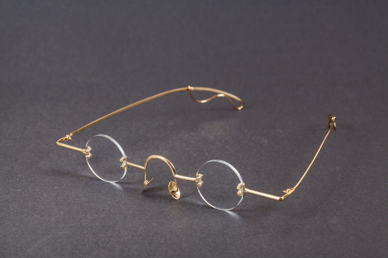 Lunettes Or ronde Test10