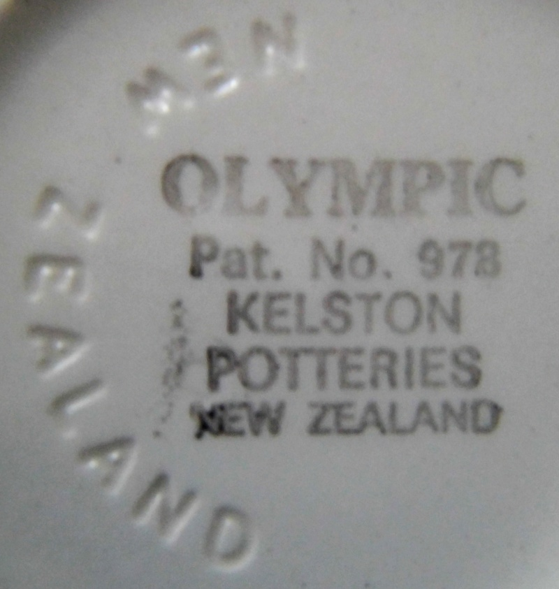 Olympic by Kelston Potteries pat no 978 from tuitua Olympi11