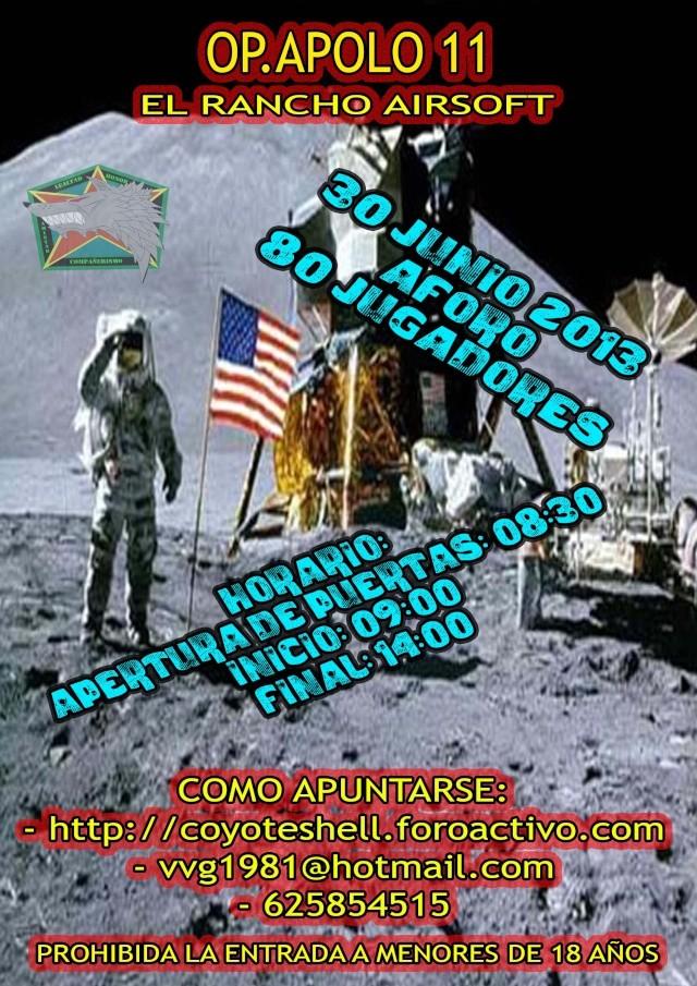 Op. Apolo11, partida abierta 30.06.13 El Rancho Apolo110