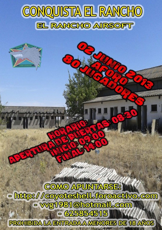 Conquista el rancho, partida abierta 2.06.13 El Rancho (Brunete) Conqui10