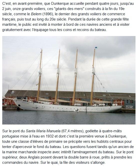 [ Marine à voile ] GRANDS VOILIERS A DUNKERQUE Dk110
