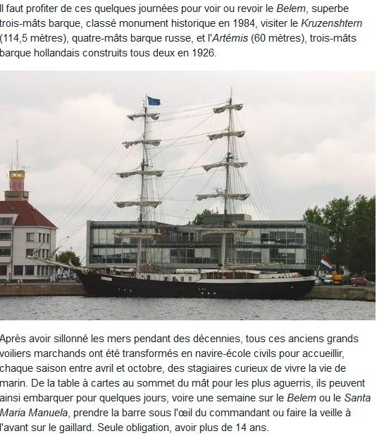 [ Marine à voile ] GRANDS VOILIERS A DUNKERQUE Dk210