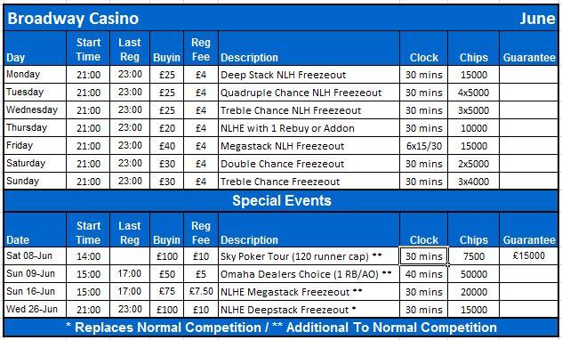 June Schedule Birmin16