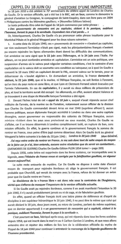 L'APPEL DU 18 JUIN - UNE FUMISTERIE 18-jui12