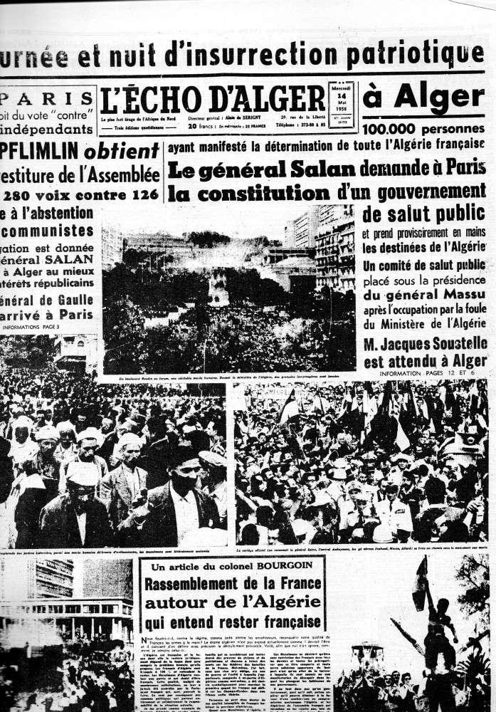 IL Y A 55 ANS, ALGERIE PRESSE DU 14 MAI 1958 Img39811